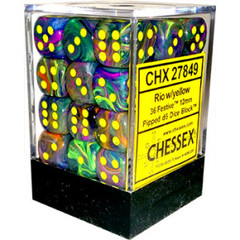 12mm D6 Dice Block: Festive - Rio w/Yellow - CHX27849