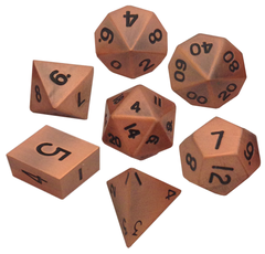 Polyhedral: Metal - Antique Copper 7 Dice Set