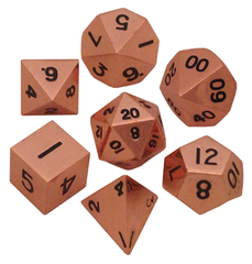 Polyhedral: Metal - Copper 7 Dice Set