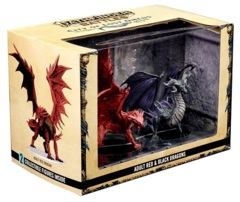 Pathfinder Battles Miniatures: City Of Lost Omens Premium Figure – Red & Black Dragons