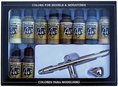 Airbrush Set: Camouflage Colors (airbrush + 10x17ml) - AV 71168
