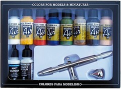 Airbrush Set: Basic Colors (airbrush + 10x17ml) - AV 71167