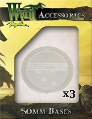 Translucent Bases: Clear 50mm (3)