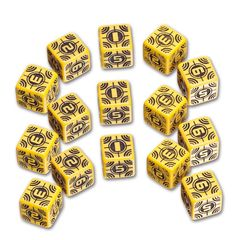 Battle Dice Set - Sniper (Yellow)