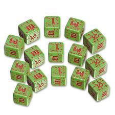 Battle Dice Set - Soviet (Green)