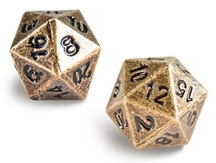 Ultra Pro Heavy Metal: D20 Antique Bronze (2 dice)