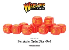 Bolt Action Order Dice: 12 Red D6 Set