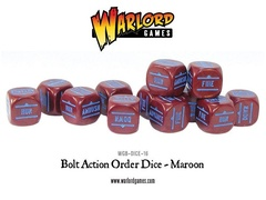Bolt Action Order Dice: 12 Maroon D6 Set