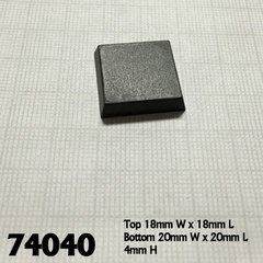 74040 - 20mm Square Plastic Flat Top Base (25)