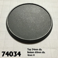 74034 - 60mm Round Plastic Gaming Base (10)