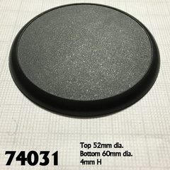 74031 - 60mm Round Plastic Display Base (10)