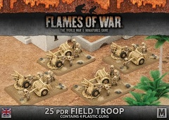 BBX33: 25 pdr Field Troop (Plastic)