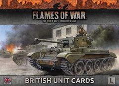 FW130B: Armies of Late War - British Unit Cards
