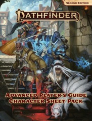 Pathfinder RPG (2nd Edition) Advanced Player's Guide - Character Sheet Pack