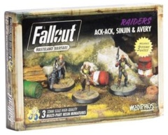 Fallout: Wasteland Warfare - Faction - Raiders, Ack-Ack, Sinjin & Avery
