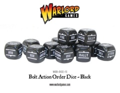Bolt Action Order Dice: 12 Black D6 Set
