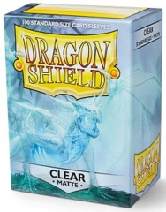 Dragon Shield: Standard - Matte Clear, 100-count box