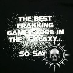 The Best Frakking Game Store .. Unisex Black Tee-Shirt