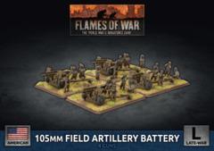 UBX77: 105m Field Artillery Battery (Plastic)
