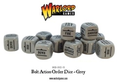 Bolt Action Order Dice: 12 Grey D6 Set