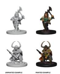Nolzur's Marvelous Miniatures - Dwarf Barbarian (Female)
