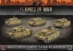 GBX122: Panzer III (Late) Tank Platoon