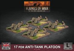 BBX52: 17 pdr Anti-Tank Platoon (Plastic)
