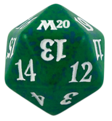 Magic Spindown Die - Core Set 2020 - Green