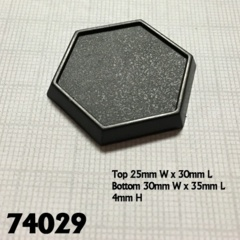 74029 - 1 Inch Hex Plastic Gaming Base (20)
