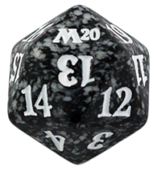 Magic Spindown Die - Core Set 2020 - Black