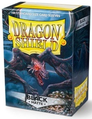 Dragon Shield: Standard - Matte Black, 100-count box