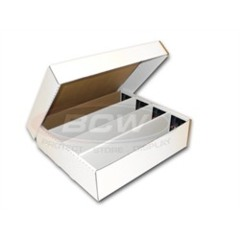 Card Storage Box, 3200-count corrugated cardboard