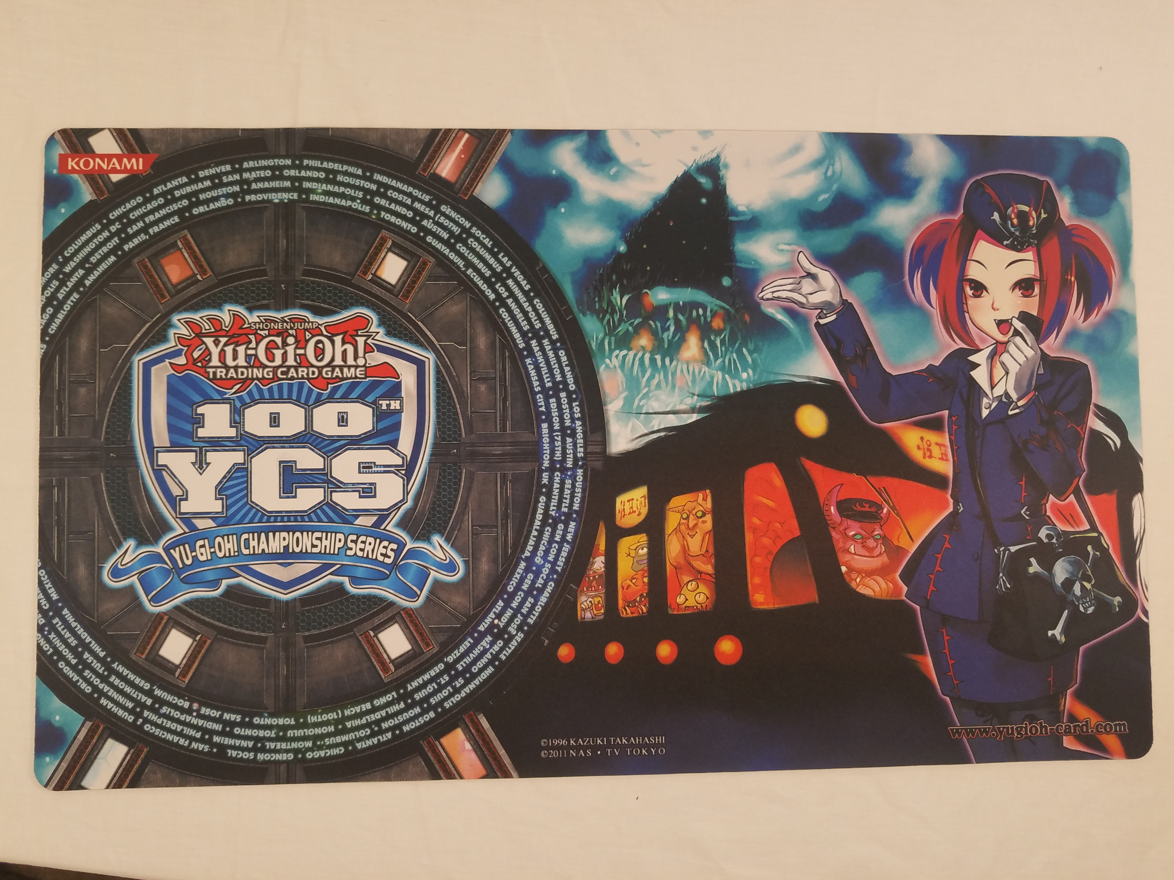 Yugioh 100th YCS Participation Mat Tour Bus From the