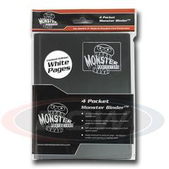 Monster Protectors 4 Pocket Black w/White Pages