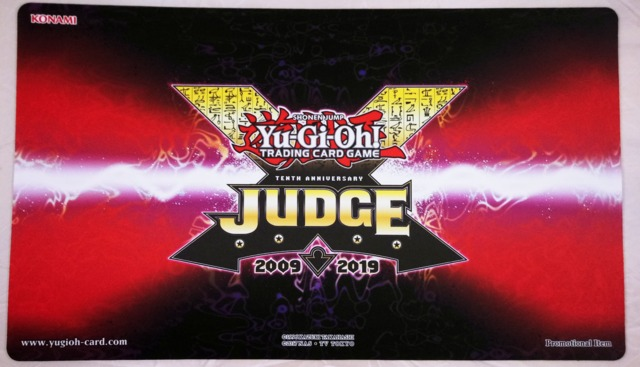 Yugioh 2019 Judge Playmat - 10 Year Anniversary Logo