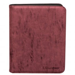 Ultra Pro Premium 9-Pocket Zippered Pro-Binder Suede Ruby