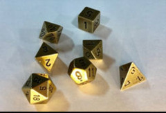 CHX 27023 Solid Metal Old Brass Color Polyhedral 7-Die Set