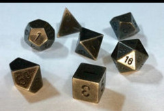 CHX 27028 Solid Metal Dark Metal Color Polyhedral 7-Die Set