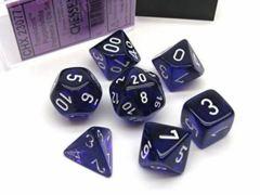 CHX 23077 Purple w/White Translucent Polyhedral 7-Die Set