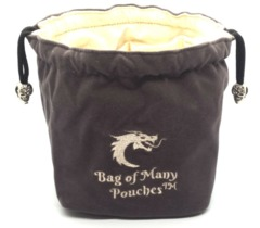 Old School Dice: Bag of Many Pouches - Gray