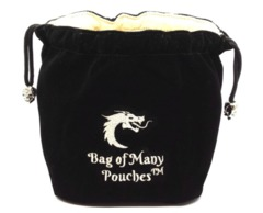 Old School Dice: Bag of Many Pouches - Black
