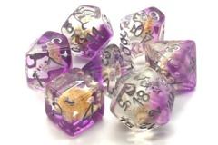 Old School RPG Dice Set: Infused - Beach Party Purple