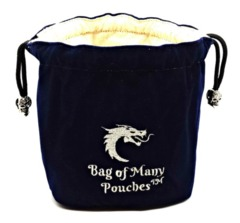 Old School Dice: Bag of Many Pouches - Blue