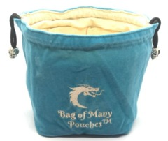 Old School Dice: Bag of Many Pouches - Teal