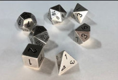 CHX 27021 Solid Metal Silver Color Polyhedral 7-Die Set