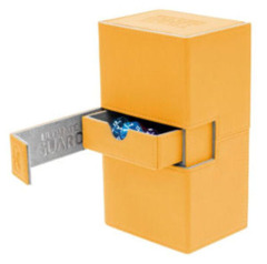 Ultimate Guard Twin Flip'n'Tray - TWIN FLIP'n'TRAY DECK CASE 160+ - amber