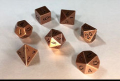 CHX 27024 Solid Metal Copper Color Polyhedral 7-Die Set