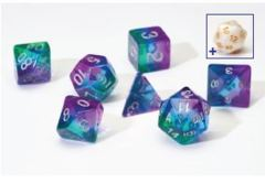 Sirius Dice Blue Aurora Semi Translucent 7 Die Set