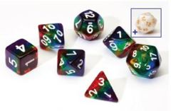 Sirius Dice Blue Rainbow Translucent 7 Die Set