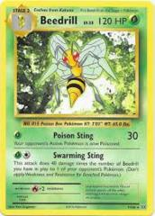 Beedrill - 17/102 - Rare - 1999-2000 Wizards Base Set Copyright Edition